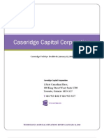 Caseridge TechSys DealBook January 12 2010
