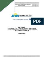 4 _Informe de Consumo de Diesel Equipos Livianos Mes Octubre 2014