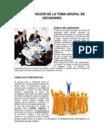 Administración de La Toma Grupal de Decisiones