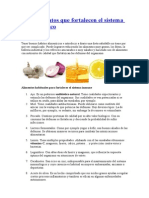 Diez Alimentos Que Fortalecen El Sistema Inmunológico