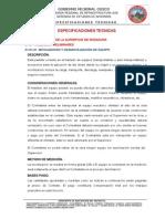 ESPECIFICACIONES TECNICAS MANTENIMIENTO VIAL