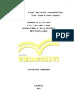 II PROJETO - Matematica Financeira - Turma ADG 0287 - CRISTIAN DA SILVA NOBRE, CRISTIANE LOPES TOMAZ, DEBORA VIEIRA DA SILVA MEDEIROS, FILIPE DOS SANTOS..docx