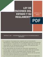 ley de comtrataciones y su reglamento