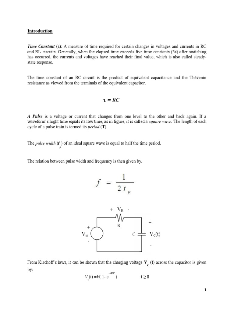 Rc Circuit Lab Report Capacitor Electrical Circuits Pictures