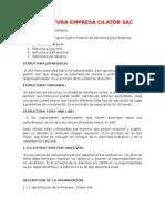 Estructura de Una Empresa Cilator Sac