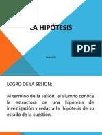 Sesion 22 La Hipotesis