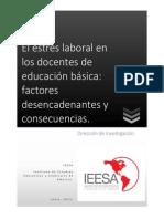 El Estres Laboral en Los Docentes de Educacion Basica Factores Desencadenantes y Consecuencias