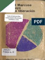 Marcuse 1969 Essay o Sobre La Liberacion