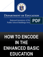 Online Encoding of School Building Inventory