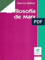 Balibar_Filosofía de Marx