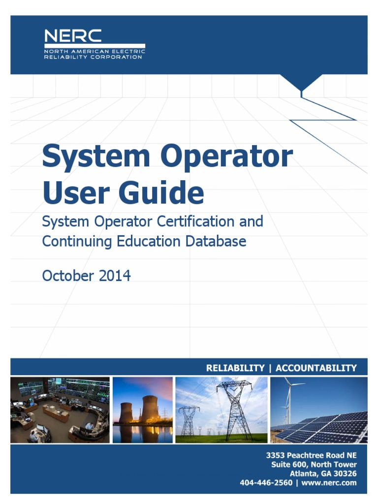 System Operator Certification Dl Socced System Operator User Guide