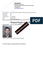 Wanted People in Custody-White
