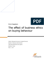 The effect of business thics