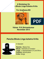 Nov 2013 Pancha Bhutha Slides