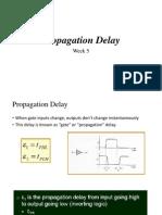 Week 6 Prpagation Delay