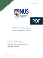 analog design lab report