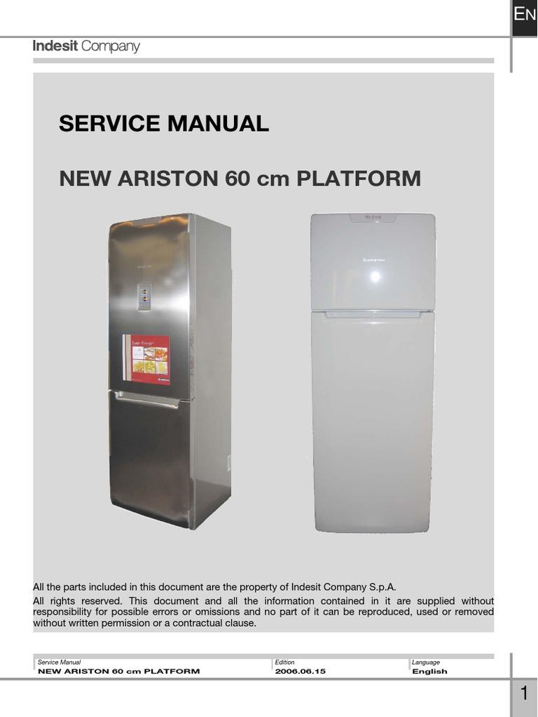 Indesit Service Manual   Refrigerator   Electrical ConnectorScribd