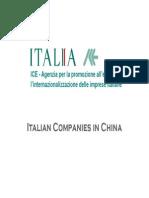 Italian Companies in China