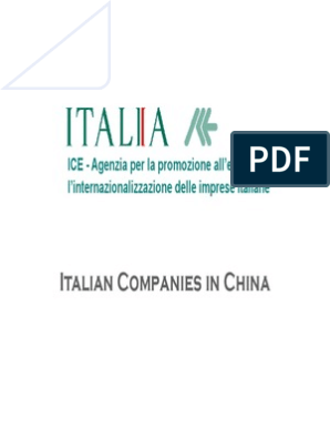 Italian Companies in China | Business | Nature