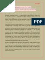 Innovative Financial Advisors Pvt. Ltd. –  The Economic Aspect of Women Empowerment