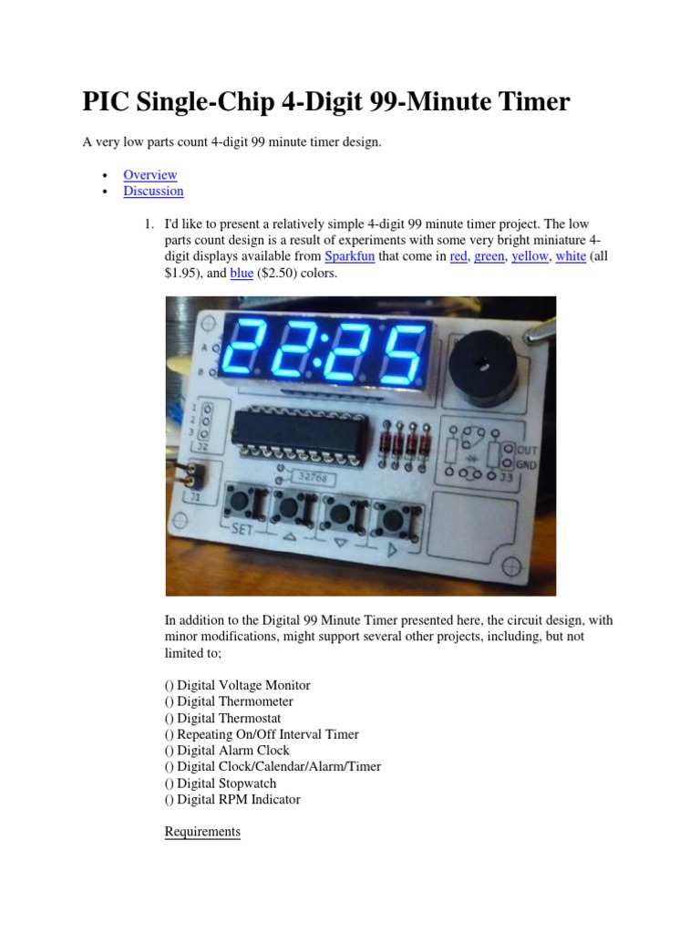 Timer Electronic Circuits Digital Thermometer With Pic16f84 Circuit