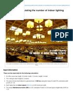 An Example of Calculating the Number of Indoor Lighting Fixtures _ EEP