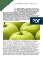 Caseros Receta De Tarta De Manzana Con Las Manzanas Frescas