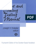 Paint and Coating Testing Manual [MNL 17] (14th Ed. of the Gardner-Sward Hbk.) - J. Koleske (ASTM, 1995) WW