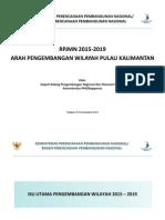 Rancangan RPJMN 2015-2019. Arah Pengembangan Wilayah Kalimantan