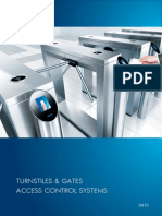 NEW 2015 PERCo Turnstiles and Access Control Systems Catalogue
