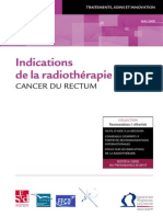 Indications de La Radiotherapie Rectum