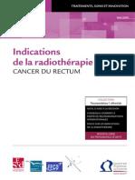 Indications de La Radiotherapie Rectum