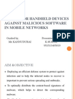 Secure for Handheld Devices Against Malicious Software