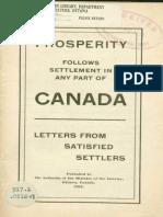 Land settlement - Canada