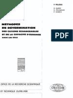 METHODES DE DETERMINATION DES CATIONS ECHANCEABLES