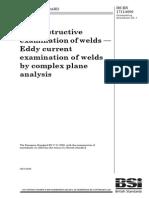 Bs en 1711-2000 焊接的无损检验-通过综合平面分析对焊接的电流检验