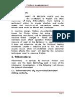 Friction Measurement