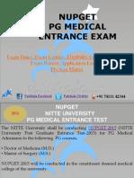NUPGET 2015 Entrance Exam Dates|Deemed Medical Colleges