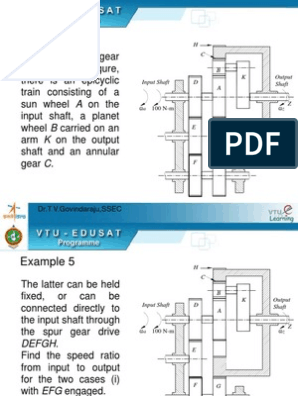 10-Chapter-5-Gear-Trains-Tabular-method ppt | Euclidean