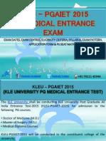 KLEU–PGAIET 2015 PG Medical Entrance Exam Details - PGAIET 2015 PG Medical Entrance Exam