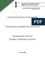 Algebra y Geometría Analítica 2005-2