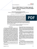 Effects of Science Proceasdss Skills Mastery Learning Approach on Students' Acquisition of Selected Chemistry Practical Skills in School