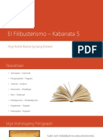 El Filibusterismo – Kabanata 5