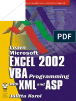 Korol 'Learn Microsoft Excel 2002 VBA Programming With XML and ASP'