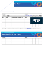 Curriculum Activity Risk Planner