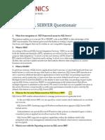 SQL Server Questionair1