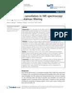 Motion Artifact Cancellation in NIR Spectroscopy Using Discrete Kalman Filtering