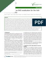 Considerations on BVD eradication for the Irish livestock industry