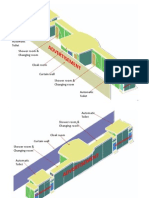 3D View of the Public Amenity Block