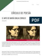 Círculo de Poesía _ El Mito de María Emilia Cornejo